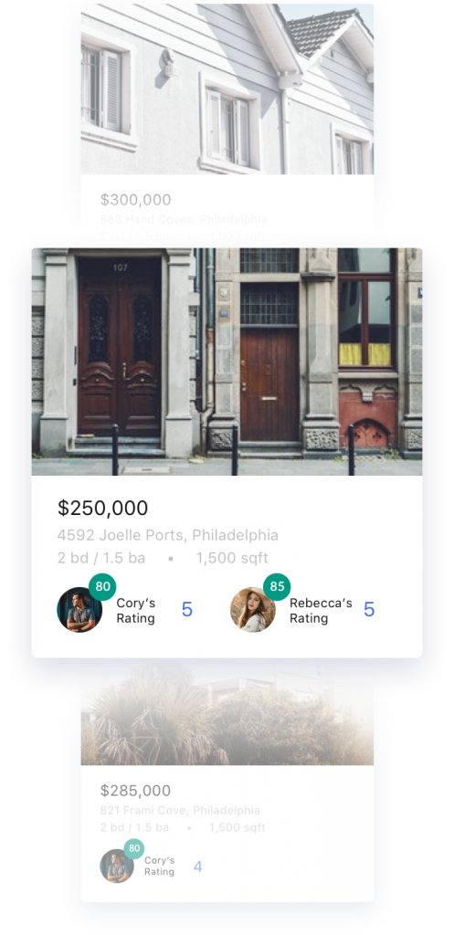 SpotScore home buying with friend's ratings.